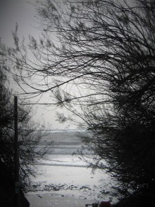 storm imogen perranuthnoe low tide