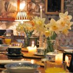 Spring breakfast table for April reservations
