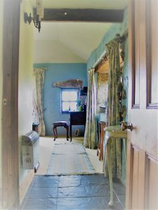 Blue bedroom entrance hall