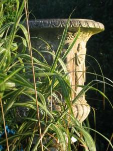 A garden urn