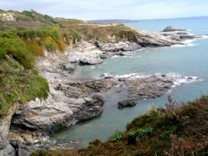 Prussia Cove a famous smugglers cove in West Cornwall