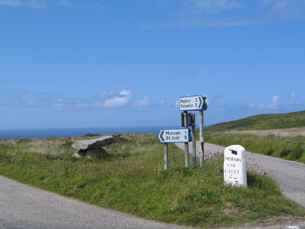 Road signs West Penwith