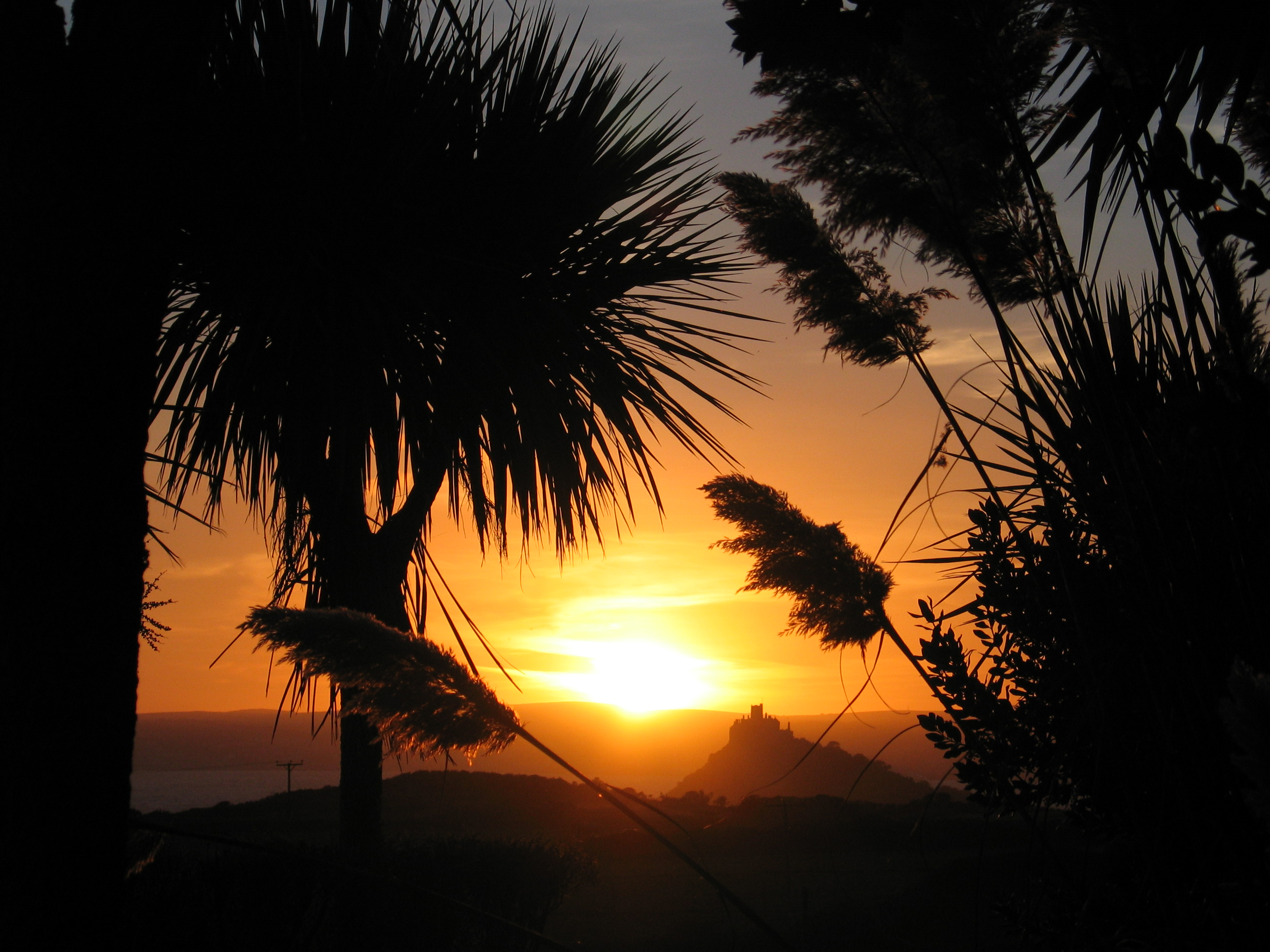 Sunset over Mounts Bay, Cornwall in September