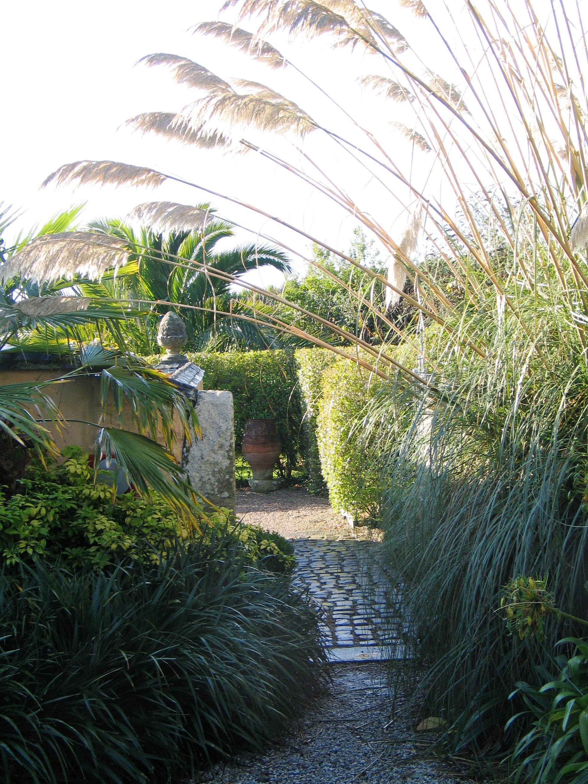 Pahway to an italianate garden in cornwall