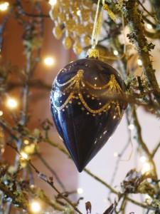 Christmas decorations at Ednovean Farm