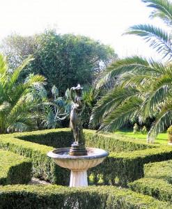 Ednovean Farm's formal courtyard garden