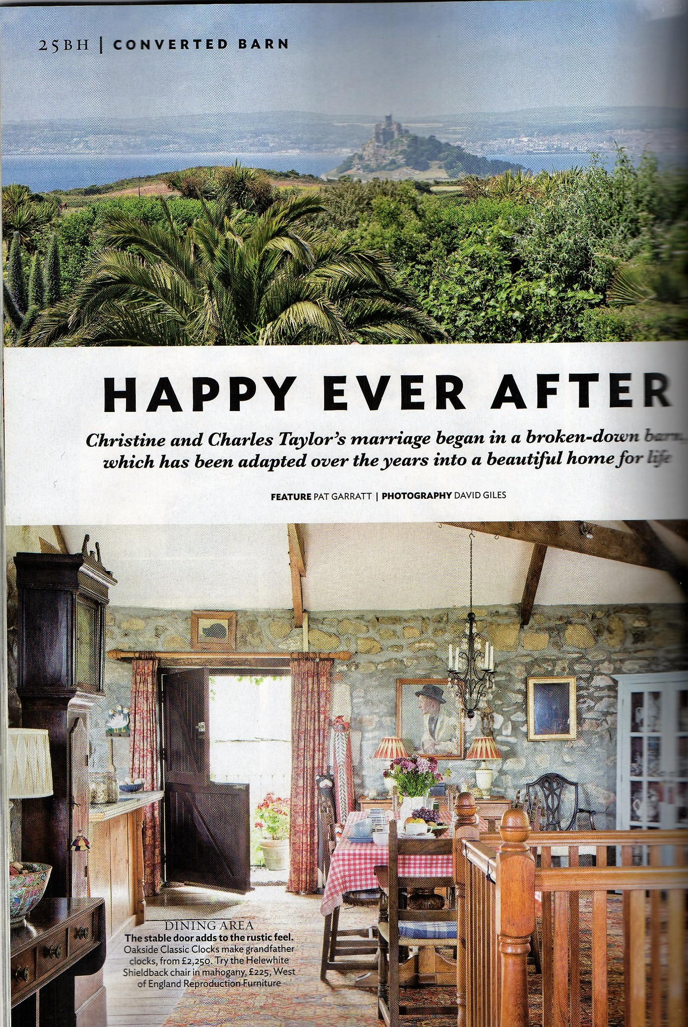Ednovean Farm magazine article in 25 Beautiful Homes
