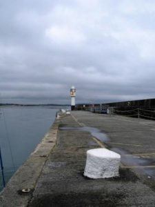 The long expanse of the granite Albert pier at Penzance Haarbour