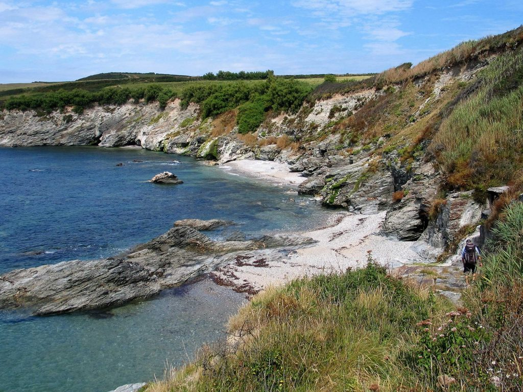 we walked to a classic secluded, cornish cove filled with a clear silent sea at high tide