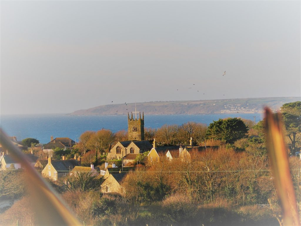 view to perranuthnoe peaceful cornish village by the sea