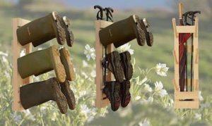 Wellyracks holding wellington boots