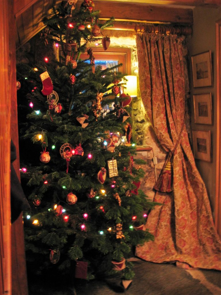 Traditional Christmas Tree ready to greet our Bed and Breakfast guests at Christmas