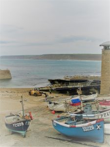 fishing boats on the harbour sands