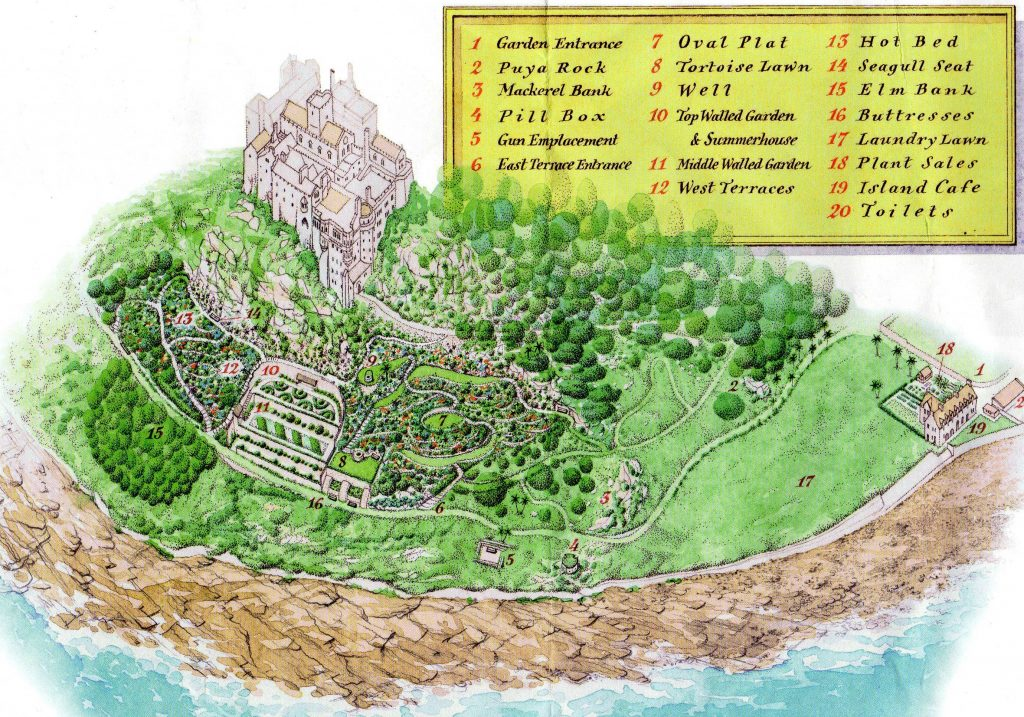 Map of St Michael's Mount garden