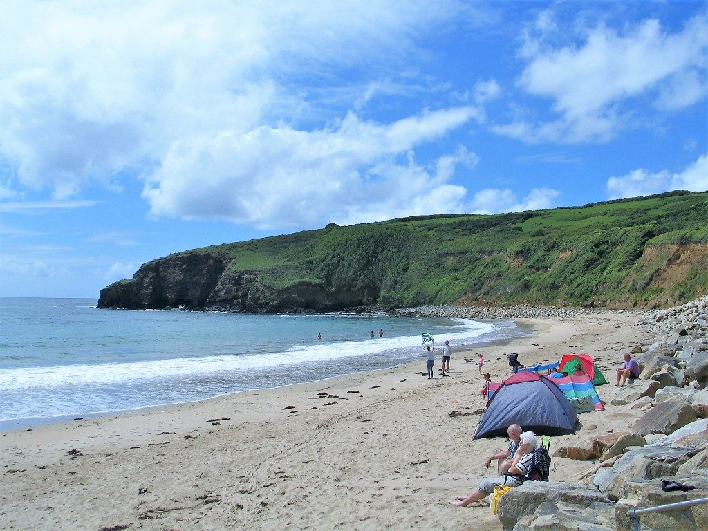 popular cornish beach - Praa Sands