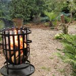 A brazier for summer in the garden