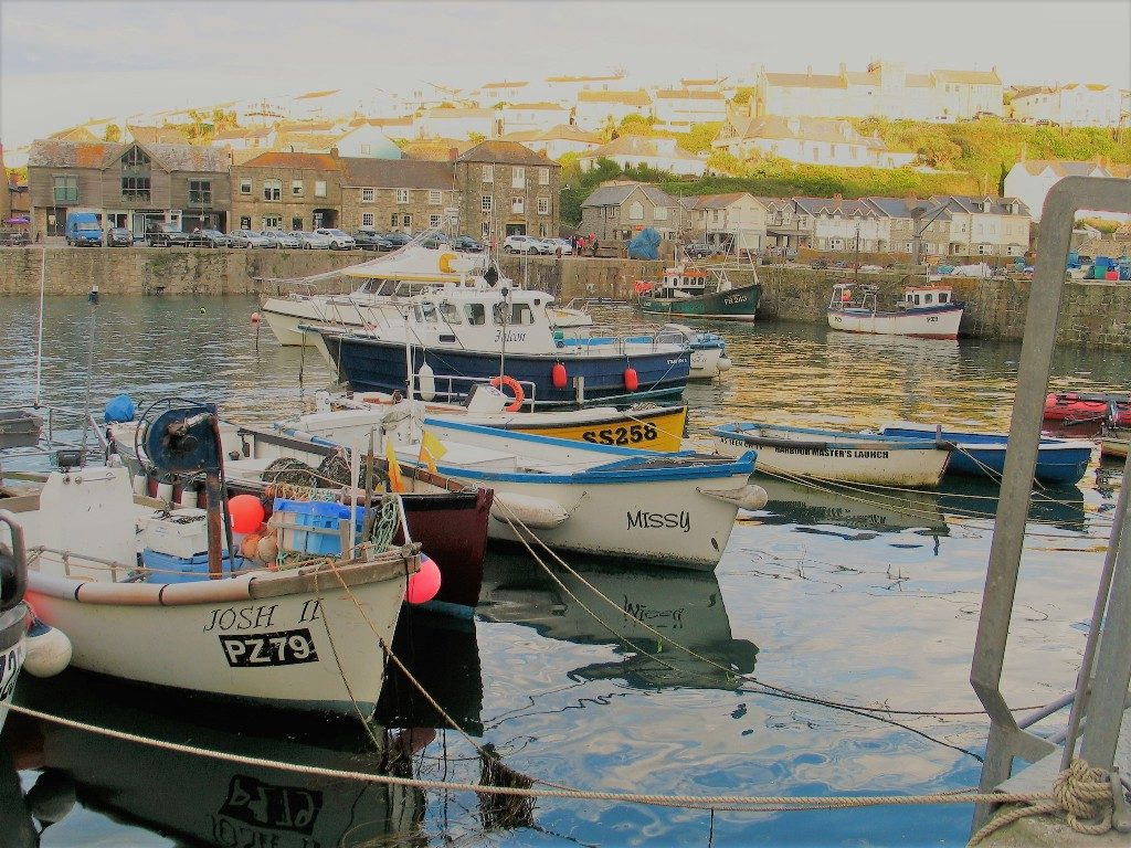 Boats in a cornish harbour