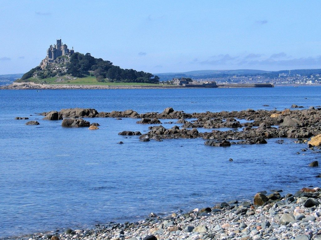 Fairy tale St Michael's Mount seen from Trenow