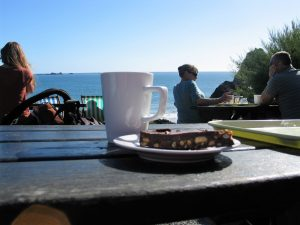 cafe snack with view to the sea