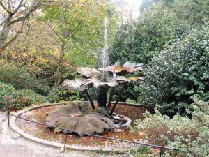 Fountain above a garden
