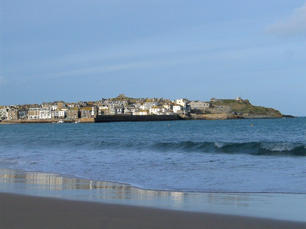 St Ives across the sea from Porthminster Beach