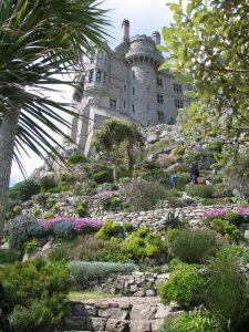 terrace rock garden leading to castle - St Michael's Mount Garden