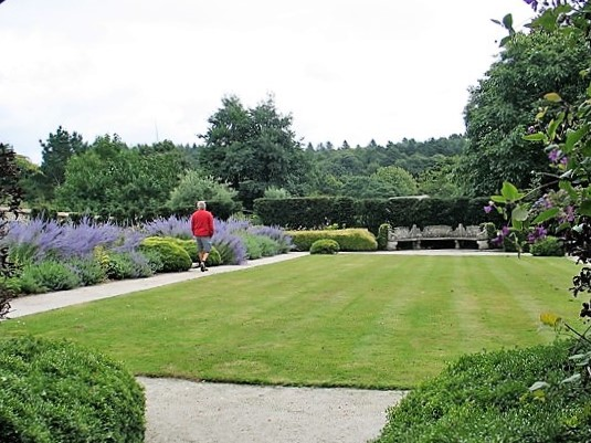 Historic walled garden with herbacious planting - Bonython Estate Gardens