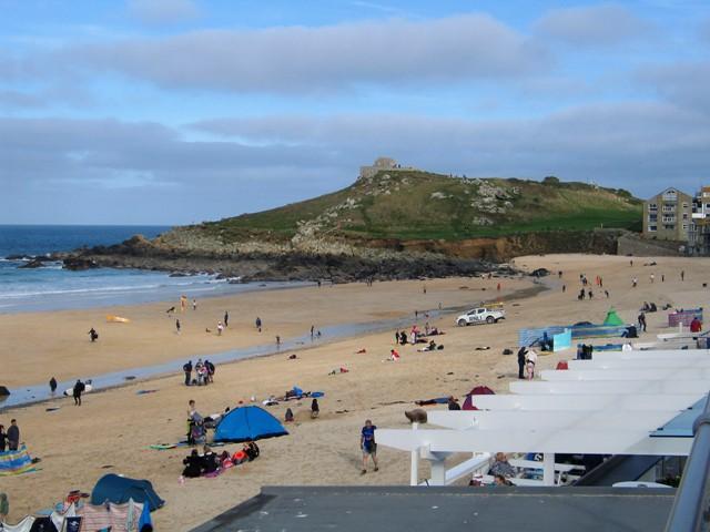 Beach scene Porthmeor St Ives