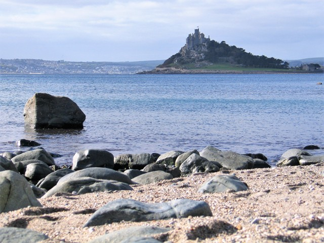 Beach with a view to St Michael's Mount