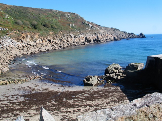 Lamorna Cove at low tide