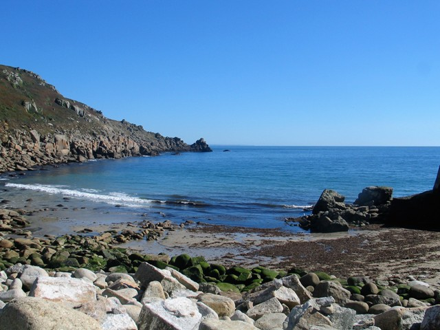 Low tide in an unspoilt cornish Harbour - Lamorna