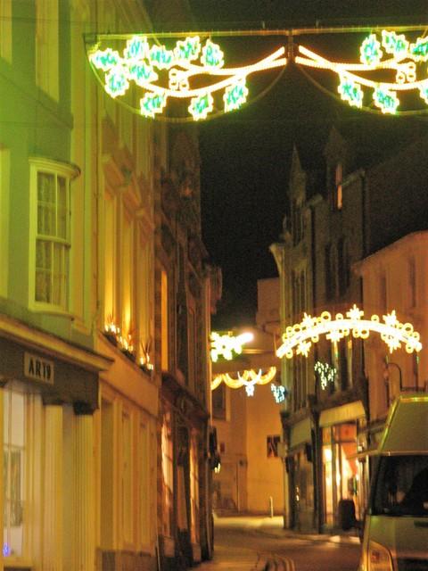 historic chapel street at Christmas