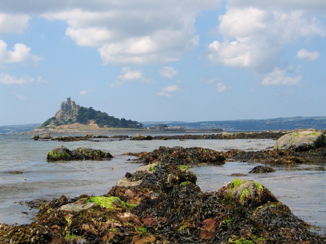St Michael's Mount at low tide - ednovean farm news
