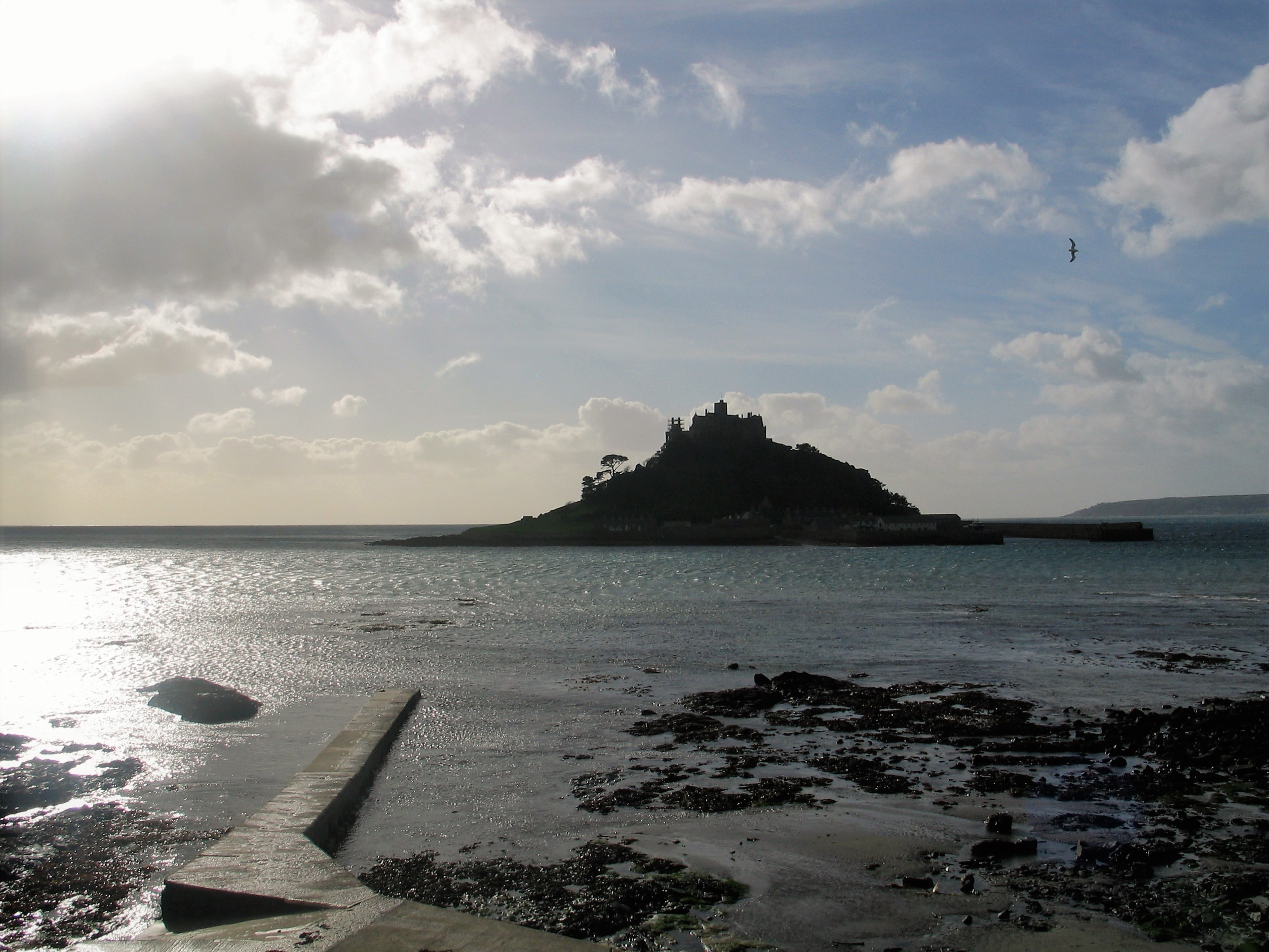 a visit to the sea - St Michael's Mount in winter