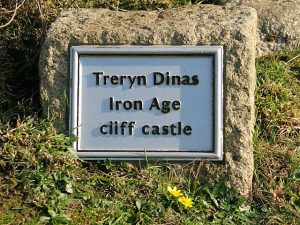 Plaque - Treryn Dinas iron Age cliff castle