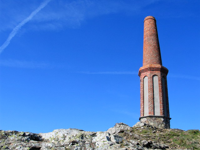 Mine chimney used for maritime navigation - Cape Cornwall