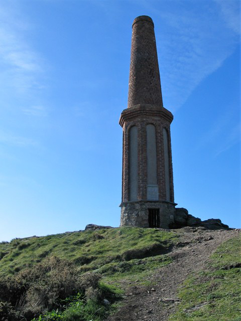 chimney topping Cape Cornwall