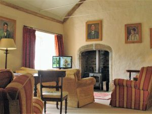 casual -sitting room with log burning stove